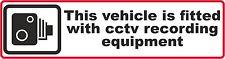 10 x CCTV Dash Cam registrazione Auto Adesivo Decalcomania Finestra PARAURTI CCTV Telecamera HD CAM
