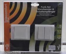 REV Telecomfort Plus Funkset Wandsender und Schaltempfänger 84473 und 84475
