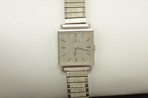 Vintage Men's Omega De Ville Stainless Square Watch Ref. 111.071 17J Runs!