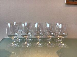 10 Classic Short Stem Crystal Wine Glasses