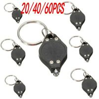 Lot Bright Mini White Keychain LED Light Lamp Key Ring Flash Flashlight Torch US