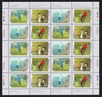 BIRDS OF CANADA -2 = BLUEBIRD GREBE GANNET TANAGER = Canada 1997 #1631-34 MNH
