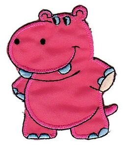 Bb31 Hippo Zoo Sew-On Iron-On Application Children Baby