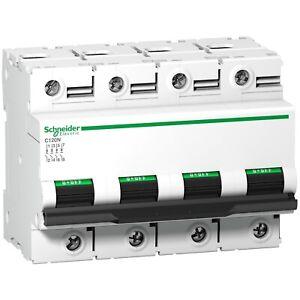 Disjoncteur C120N 4P 100 A, courbe D, 10 kA  SCHNEIDER ELECTRIC A9N18392