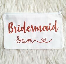Personalised Make Up Bag, Bridesmaid Gift,Wedding Favours, Hen Party Makeup SALE