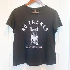 Buffalo David Bitton Black Graphic Dog T-shirt Women's Medium