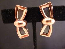 Vintage RENOIR Matisse Copper,  CLIP  Earrings Set   BOW TIES OR BOWS 1950'S