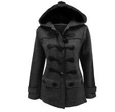 cotton duffle*duffel coat grey hood light BNWT grunge punk goth industrial emo