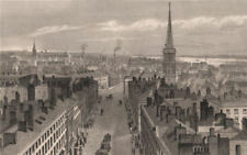 Liverpool from the Town Hall. Castle Street St George's church Derby Square 1829