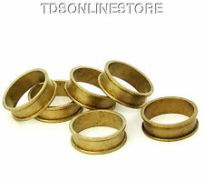 "Raw Brass Ring Blanks 1/4""  Wide Size 7 With Channel  Pkg Of 6"