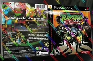 Custom TMNT Mutant Nightmare 3 PS2 Replacement COVER ONLY NTSC