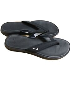 Nike Women NWOT Size 10 Neoprene Thong flip Flop sandals Black(#LEE