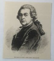 1883 magazine engraving ~ JOHN ADAMS