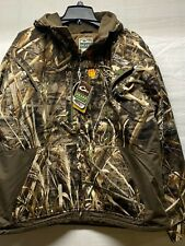 Drake Waterfowl Max 5 Camo Windproof Fleece Jacket XL Duck Mallard Goose Hunting