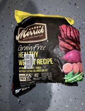 Merrick Grain Free Dog Food Bag Broke Open And Taped Shut But Still Has 22 lbs.