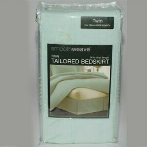 New Smooth Weave Tailored Bed Skirt Drop 14 in Size Twin King