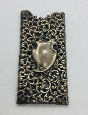 Antique Sterling Silver Art Nouveau Ornate Repousse Card Case Holder