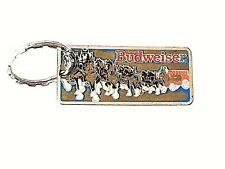 Vintage Budweiser Clydesdale Cloisonné Enamel KeychainPre-owned Collectible