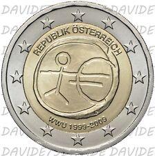 2C2009AAUS] 2 EURO COMMEMORATIVO AUSTRIA 2009 - 10 ANNI EURO 1999 2009 - EMU