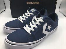 Converse EL DISTRITO Men's Canvas Low Top Sneaker 155065C Navy White Size 12