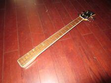 Vintage Original 1970's Aria Electric Bass Guitar Neck 4 Bolt w/ Tuning Pegs