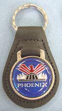 Blue Pontiac PHOENIX Black Leather USA Keyring Key Fob 1977 1978 1979 - 1984