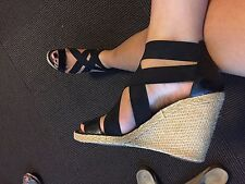 Ralph Lauren Cork Strappy Wedges