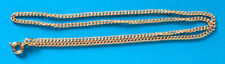 """5 x 18"""" gold plated complete curb necklace chains, ideal for pendants"""