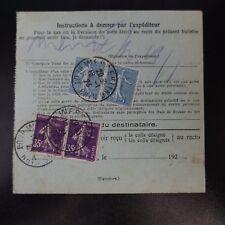 COLIS (PACCHI) POSTALI NEWSLETTER D'SPEDIZIONE ALSACE LORRAINE WESSERLING CAD