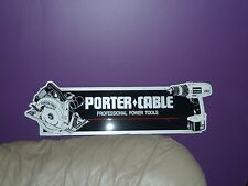 PORTER  CABLE  POWER TOOL DISPLAY SIGN NEW OLD STOCK  MAN CAVE X 2