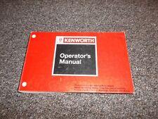 other car truck manuals literature ebay rh ebay com kenworth w900 service manual pdf 2012 kenworth w900 owners manual