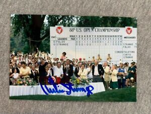 1988 US OPEN CHAMPION- CURTIS STRANGE AUTOGRAPH 4x6 CELEBRATION PHOTO