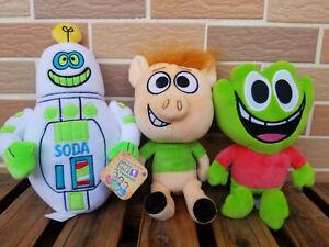 "Hobby Kids Adventures Pocket Watch Hobby Pig Soda Bot Green frog 8"" Set of 3"