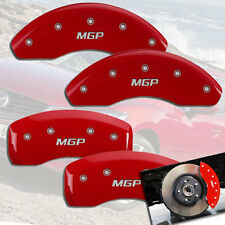 2007-2013 Mazda 3 Mazdaspeed 2.3L Front + Rear Red MGP Brake Disc Caliper Covers