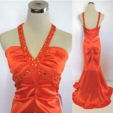 NWT XSCAPE $180 Orange Women Formal Evening Ball Gown 6