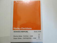 1970 1971 1972 Harley Davidson Electra Super Glide Service Repair Manual Set NEW