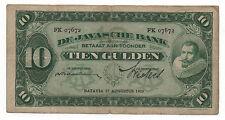 NETHERLANDS INDIES 10 GULDEN 1929 PICK 70 D LOOK SCANS