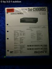 Sony Service Manual XR C900RDS Cassette Car Stereo (#3630)