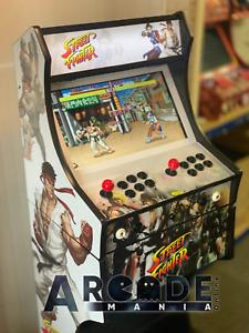 Full Size Custom Arcade Machine - Street Fighter themed - 3,188 Classic Games