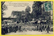 Magnifique cpa RARE 75 - PARIS en 1909 Rue de FLANDRE COLONIE ENFANTS BRETAGNE