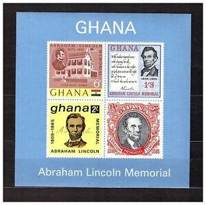 S16316) Ghana MNH 1965 Abraham Lincoln S/S