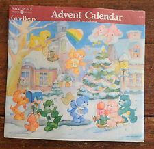 "Vintage 1987 CARE BEAR Sealed Christmas ADVENT CALENDAR Use for Any Year 10x12"""