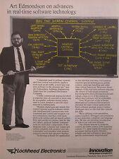 4/1986 PUB LOCKHEED ELECTRONICS REAL TIME WEAPON CONTROL SYSTEM ART EDMONDSON AD