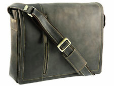 Visconti Hunters Leather Messenger Shoulder Bag With Removable Laptop Pouch