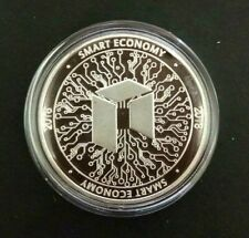 NEO Crypto Currency Novelty Coin. 999 Silver Plated + case