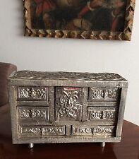 Chest bargueño Silver sterling antique colonial spanish Perú