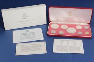 Bahamas: 1974 1c-$5 9-Coin Proof Set, Inc 2.8721oz Pure Silver (50c-$5)