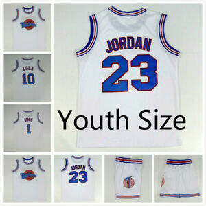 Youth Size Space Jam Tune Squad Basketball Jersey #10 Lola #1 Bugs #23 Stitched
