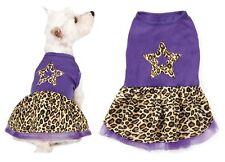 Small/Med Purple Leopard Print Spring Dog Dress Star Design Skirt - CLOSEOUT