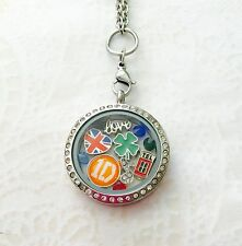 "One Direction 1D Inspired Memory Locket Necklace w/ 18"" Chain Stainless Steel"